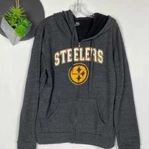 Pittsburgh Steelers Zip Front Hoodie EUC L